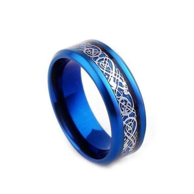超お買い時790円★ドラゴンデザイン指輪 メンズ ステンレス8号 メンズのアクセサリー(リング(指輪))の商品写真