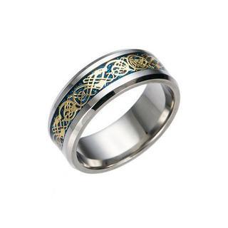 超お買い時790円★ドラゴンデザイン指輪 メンズ ステンレス8号(リング(指輪))