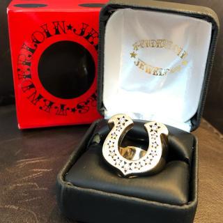 テンダーロイン(TENDERLOIN)の【美品】テンダーロイン  ホースシューリング 8K ダイヤ 13号 (リング(指輪))