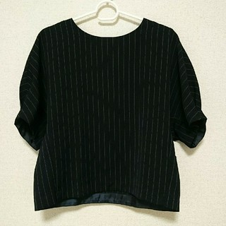 ジーユー(GU)のGU ストライプブラウス(シャツ/ブラウス(半袖/袖なし))
