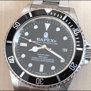 アベイシングエイプ(A BATHING APE)のbapex 自動巻 サルマリーナ(腕時計(アナログ))