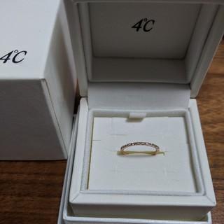 ヨンドシー(4℃)の4℃ 18Kピンクゴールド/ダイヤモンド ピンキーリング(リング(指輪))