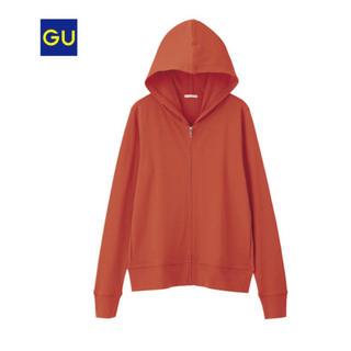 GU - GU  UVカット フルジップパーカ (L) オレンジ WOMEN  未着用品