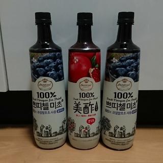 コストコ(コストコ)のコストコ 美酢 ミチョ ブルーベリー2本 ザクロ1本 送料込(ダイエット食品)