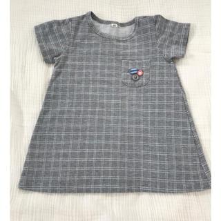 ミナペルホネン(mina perhonen)のミナペルホネン  ボタン Tシャツ ハンドメイド Tシャツ チュニック(Tシャツ)