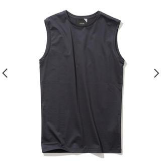 デミルクスビームス(Demi-Luxe BEAMS)のATON エイトン スビンコットンクルーネックタンクトップ ネイビー(Tシャツ(半袖/袖なし))