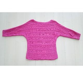 ラルフローレン(Ralph Lauren)のラルフローレン 美品 カーディガン M ピンク Tシャツ 七分袖 サマーニット(ニット/セーター)