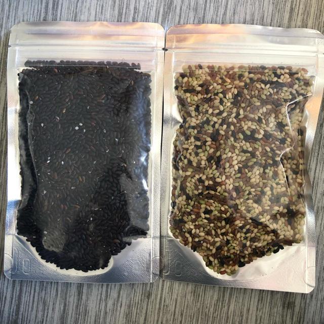 無農薬 黒米 セット 食品/飲料/酒の食品(米/穀物)の商品写真