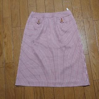 ジオスポーツ(GIO SPORT)のGIO SPORT チェック赤スカート(ひざ丈スカート)