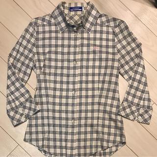 バーバリーブルーレーベル(BURBERRY BLUE LABEL)のバーバリーブルーレーベル チェックシャツ サイズ36美品(シャツ/ブラウス(長袖/七分))