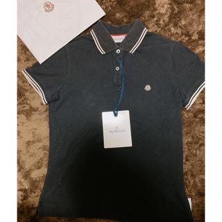 モンクレール(MONCLER)の【MONCLER】 ポロシャツ XSサイズ モンクレール ブラック 即発送可能(ポロシャツ)