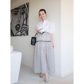 ドゥロワー(Drawer)のcecilie bahnsen 黒色スカート(ひざ丈スカート)