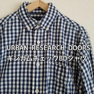 ドアーズ(DOORS / URBAN RESEARCH)のURBAN RESEARCH DOORS ボタンダウン ギンガムチェックシャツ(シャツ)