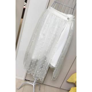 リズリサ(LIZ LISA)のリズリサ レースプリーツスカート(ひざ丈スカート)