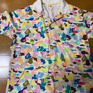 アベイシングエイプ(A BATHING APE)のBAPE マルチカモ ポロシャツ ABCカモ メンズL 中古(ポロシャツ)