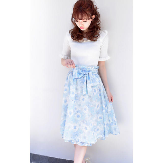 LIZ LISA(リズリサ)のリズリサ パステルフラワースカート レディースのスカート(ひざ丈スカート)の商品写真