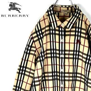 バーバリー(BURBERRY)の送料無料!バーバリー ロンドン 正規品 ノバチェック 長袖シャツ 刺繍 胸ロゴ(シャツ)