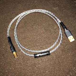 高品質銀メッキ単結晶銅USBケーブル 1m
