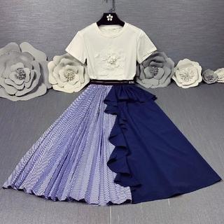 ディオール(Dior)のDIOR半袖スカート綺麗可愛い(ロングスカート)