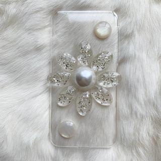 iPhone case___clear big flower(スマホケース)