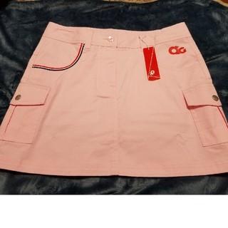 アディダス(adidas)の❥新品未使用❥ ゴルフスカート ピンク L アンダーパンツあり(ウエア)