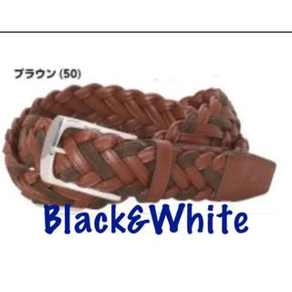 パーリーゲイツ(PEARLY GATES)の新品■10,800円【 ブラック アンド ホワイト】 メンズ ベルト(その他)
