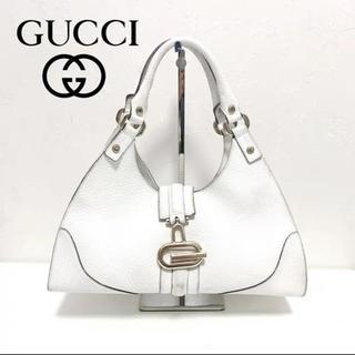 グッチ(Gucci)のGUCCI グッチ 本革 レザー トートバッグ ハンドバッグ 金具(トートバッグ)