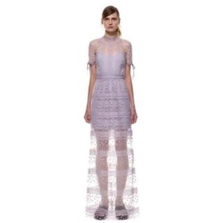 ラベンダーパープル ロングドレス(ロングドレス)