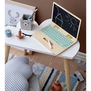 イケア(IKEA)のBloomingville 木製 ノートパソコン おままごと ブルーミングヴィル(知育玩具)
