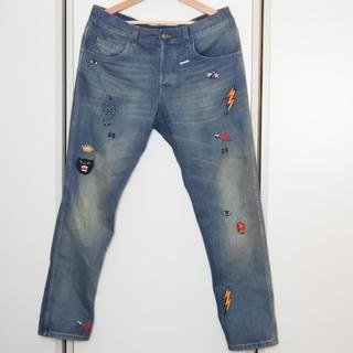 グッチ(Gucci)のGUCCI グッチ メンズ デニム 刺繍 パンツ 34 インティゴブルー マルチ(デニム/ジーンズ)