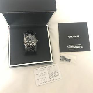 シャネル(CHANEL)の超美品★CHANEL J12 ウオッチ ダイヤモンド メンズ 38mm シャネル(腕時計(アナログ))