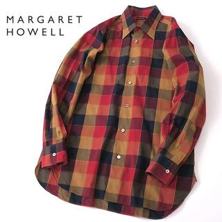 マーガレットハウエル(MARGARET HOWELL)のマーガレットハウエル マルチカラー◎ブロックチェックシャツ(シャツ)