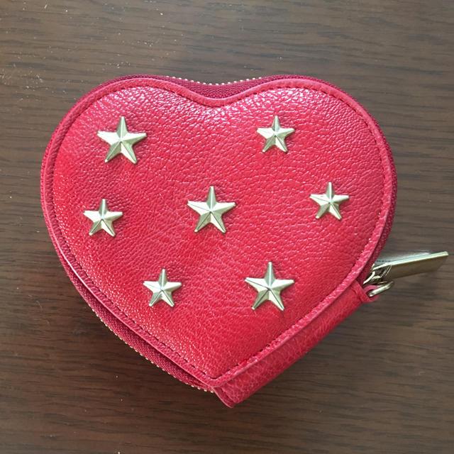 しまむら(シマムラ)のしまむら 星 スター スタッズ ジミーチュウ風 小銭入れ コインケース レッド レディースのファッション小物(コインケース)の商品写真
