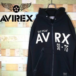 アヴィレックス(AVIREX)の【激レア】AVIREXアヴィレックス☆ビッグロゴ パーカージップ(パーカー)