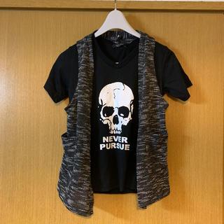 しまむら - 新品 しまむら AZUL スカル ドクロ Tシャツ セット 140 男子 男児