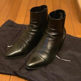 サンローラン(Saint Laurent)の15AW サンローラン 6cmフレンチブーツ エディスリマン 正規品 シャツ(ブーツ)
