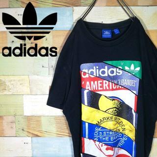 アディダス(adidas)のアディダスオリジナルス☆ビッグロゴプリント レアデザイン Tシャツ(Tシャツ/カットソー(半袖/袖なし))