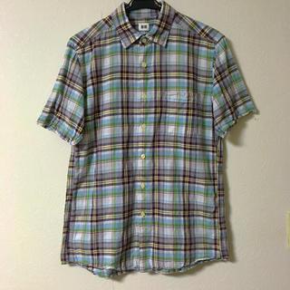 ユニクロ チェック柄  半袖 シャツ