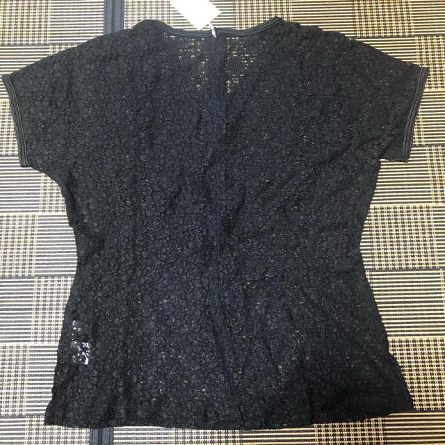 ZARA(ザラ)のOTTOレース黒トップス レディースのトップス(カットソー(半袖/袖なし))の商品写真