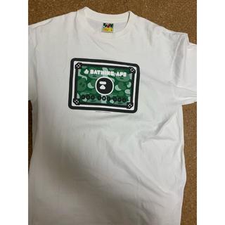 アベイシングエイプ(A BATHING APE)の激レアLサイズ! BAPE会員限定マイログリーンカードTシャツ非売品(Tシャツ/カットソー(半袖/袖なし))