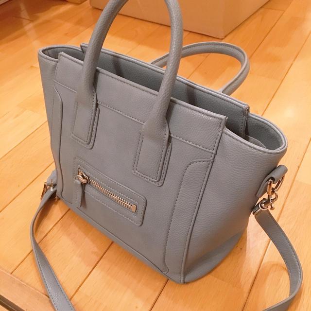 FRAY I.D(フレイアイディー)のフレイアイディー  ハンドバッグ ショルダーバッグ トートバッグ ブルー レディースのバッグ(トートバッグ)の商品写真