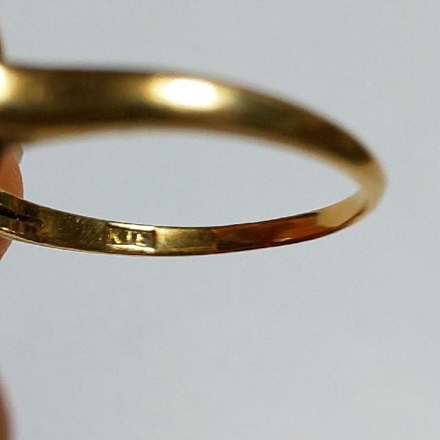 K18  アウイナイトカラー  ヴィンテージリング レディースのアクセサリー(リング(指輪))の商品写真
