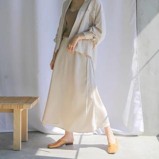 セレクト(SELECT)のselect moca サテンスカート(ひざ丈スカート)