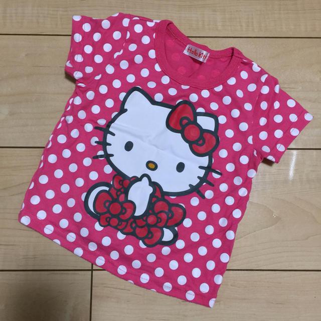 ハローキティ(ハローキティ)のハローキティ☆水玉Tシャツ☆ キッズ/ベビー/マタニティのキッズ服 女の子用(90cm~)(Tシャツ/カットソー)の商品写真