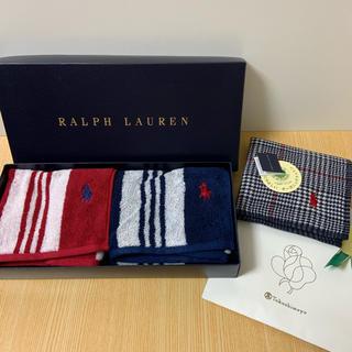 ラルフローレン(Ralph Lauren)の未使用 ラルフローレンタオル  タオルハンカチ3枚セット(タオル/バス用品)