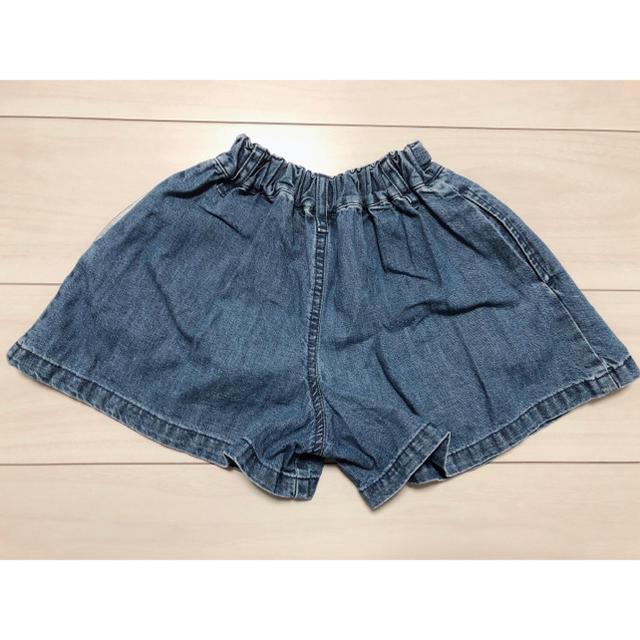 GU(ジーユー)のデニムキュロットスカート キッズ/ベビー/マタニティのキッズ服 女の子用(90cm~)(パンツ/スパッツ)の商品写真