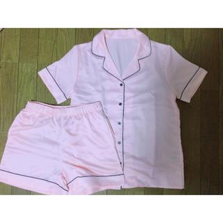 ジーユー(GU)のGU サテン レディースパジャマ Sサイズ ピンク(パジャマ)