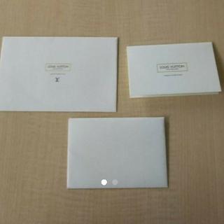ルイヴィトン(LOUIS VUITTON)の新品 LOUIS VUITTON レターセット ショップ袋(ノート/メモ帳/ふせん)