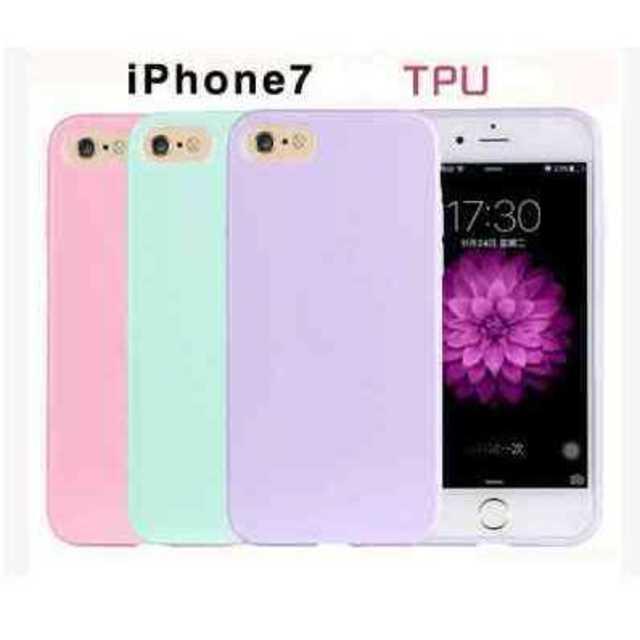 スマホケース iPhone7 ミントグリーン パステル TPU きれい かわいい スマホ/家電/カメラのスマホアクセサリー(iPhoneケース)の商品写真