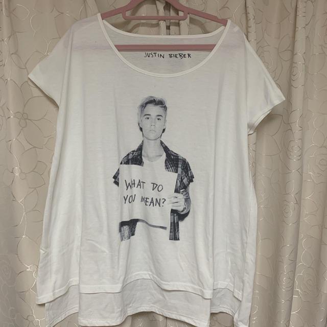 しまむら(シマムラ)のJustin Bieber  プリントTシャツ メンズのトップス(Tシャツ/カットソー(半袖/袖なし))の商品写真